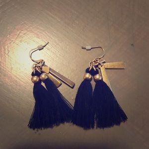 J.Crew Black Tassel Earrings